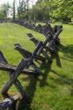 Buck Rail-Omheining Blauw Ridge Parkway, Virginia, de V.S. Stock Afbeeldingen
