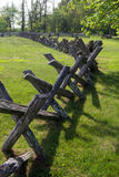 Buck Rail-Zaun blauer Ridge Parkway, Virginia, USA Stockbilder