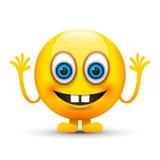 Buck teeth emoji. A yellow buck teeth emoji Stock Photo