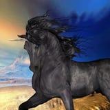 Buck Unicorn preto ilustração stock