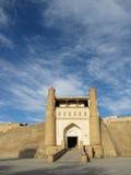 Buckara gate. Main gate along bukhara walls royalty free stock photography