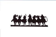 Buckaroos - cowboy con i lariats Fotografie Stock Libere da Diritti