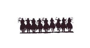 Buckaroos - cowboys avec des lassos Photos stock