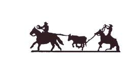 Buckaroos - cowboys com lariats Foto de Stock