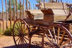 Buckboard westernu furgon fotografia stock
