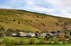 Buckden-Dorf in Wharfdale, Yorkshire-Täler Stockbilder