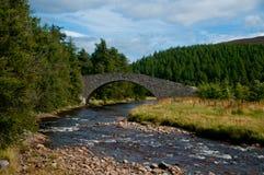 Buckel-Brücke Lizenzfreie Stockfotos