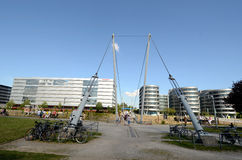 Buckelbrücke in Duisburg Stock Image