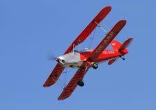 Bucker 131 Jungmann sulla terra, il 23 ottobre 2010 nell'aeroporto di Pribram, repubblica Ceca Immagini Stock Libere da Diritti