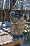 bucket деревянное стоковая фотография rf