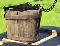 bucket деревянное Стоковое фото RF