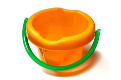 Bucket. Child's bucket for the games in a sand-box Royalty Free Stock Image