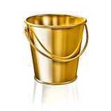 Bucket. Golden bucket isolated on white background Royalty Free Stock Image