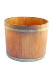 Bucket. An old wooden big bucket. Image isolated on white studio background Stock Photos