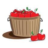 bucket_apples.jpg de madeira Fotografia de Stock