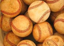 Bucket of balls. A large bucket of baseballs Stock Photography