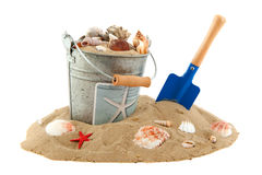 Bucket on the beach Royalty Free Stock Image