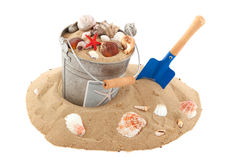 Bucket on the beach Stock Photography