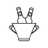 Bucket beers cool ice design outline Royalty Free Stock Photos