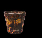 Bucket on a black background. Stock Photography
