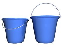 Bucket Blue, Isolated_Raster Royalty Free Stock Photography