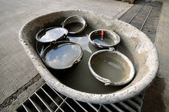 Bucket cement Stock Photos