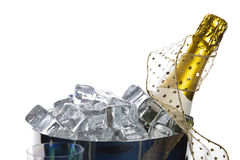 Bucket with champagne Stock Photos