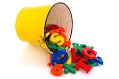 Bucket ciphers and letters Stock Images