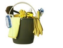 bucket cleaning isolerade tillförsel Arkivfoto