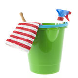 Bucket cleaning products Royalty Free Stock Photo