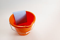 Bucket And Cloth Stock Photo