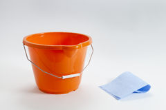Bucket And Cloth Stock Photography