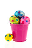 Bucket with easter eggs Royalty Free Stock Photo