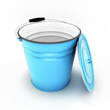 Bucket with cover removed Royalty Free Stock Photography