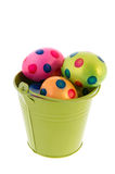 Bucket with easter eggs Royalty Free Stock Photography