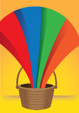 A Bucket of Emerging Rainbow Stock Photos