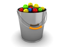 Bucket with emotions Royalty Free Stock Photo