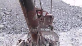 Bucket excavator volume of 10 meters cubic. stock video