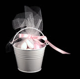 Bucket filled with sweets Stock Images