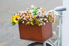 Bucket flowers Stock Image