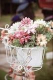 Bucket flowers Royalty Free Stock Photo