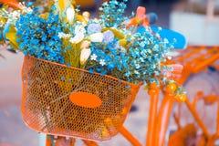 Bucket flowers Royalty Free Stock Image