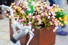Bucket flowers Stock Photo