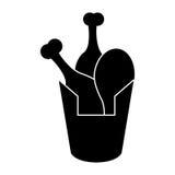 Bucket fried chicken pictogram. Illustration eps 10 Royalty Free Stock Photos