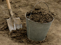 Bucket full of ground Stock Image
