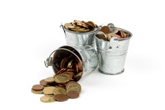bucket full of money Royalty Free Stock Image