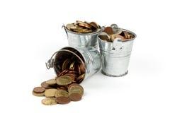 bucket full of money Royalty Free Stock Image
