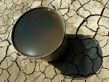 Bucket full of water Royalty Free Stock Photo