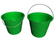 Bucket Green, Front Half Inside View_Raster. Raster of green plastic bucket, front half inside view Royalty Free Stock Photography