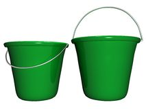 Bucket Green, Isolated_Raster Stock Image